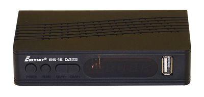 Цифровой эфирный DVB-T2 ресивер EuroSky ES-15 IPTV