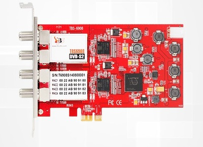DVB карта TBS 6908 Professional DVB-S2 Quad Tuner PCIe Card