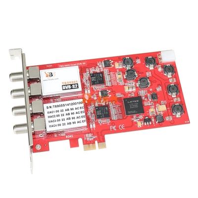 DVB карта TBS 6905 DVB-S2 Quad Tuner PCIe Card