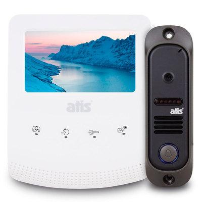 Видеодомофон + вызывная панель Atis AD-430Kit B/W