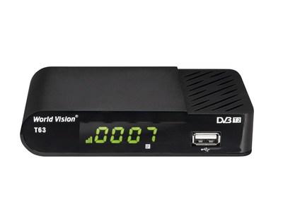 Цифровой эфирный DVB-T2 ресивер World Vision T63