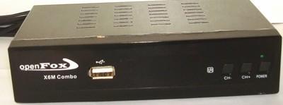 Спутниковый HDTV ресивер OpenFox X-6m HD Metal Combo