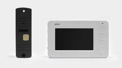 Видеодомофон + вызывная панель ARNY AVD-4005
