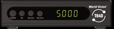 Цифровой эфирный DVB-T2 и кабельный ресивер World Vision T64D