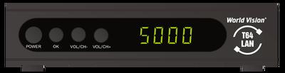 Цифровой эфирный DVB-T2 и кабельный ресивер World Vision T64LAN