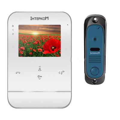 Видеодомофон + вызывная панель  Intercom IM-11 Intercom IM-11 W/B