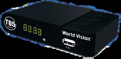 Цифровой эфирный DVB-T2 ресивер World Vision T65