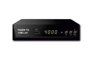 Цифровой эфирный DVB-T2 и кабельный  ресивер Tiger T2 IPTV LAN