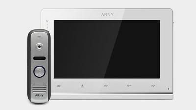 Комплект видеодомофон и вызывная панель ARNY AVD-7120