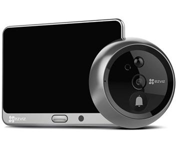 Wi-Fi Комплект Дверной глазок, звонок и домофон Ezviz CS-DP1 (A0-4A1WPFBSR)