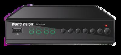 Цифровой эфирный DVB-T2 ресивер World Vision T62A LAN