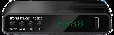 Цифровой эфирный DVB-T2 ресивер World Vision T62D2