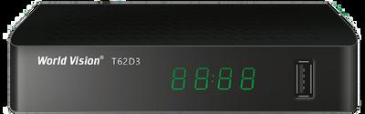 Цифровой эфирный DVB-T2 ресивер World Vision T62D3